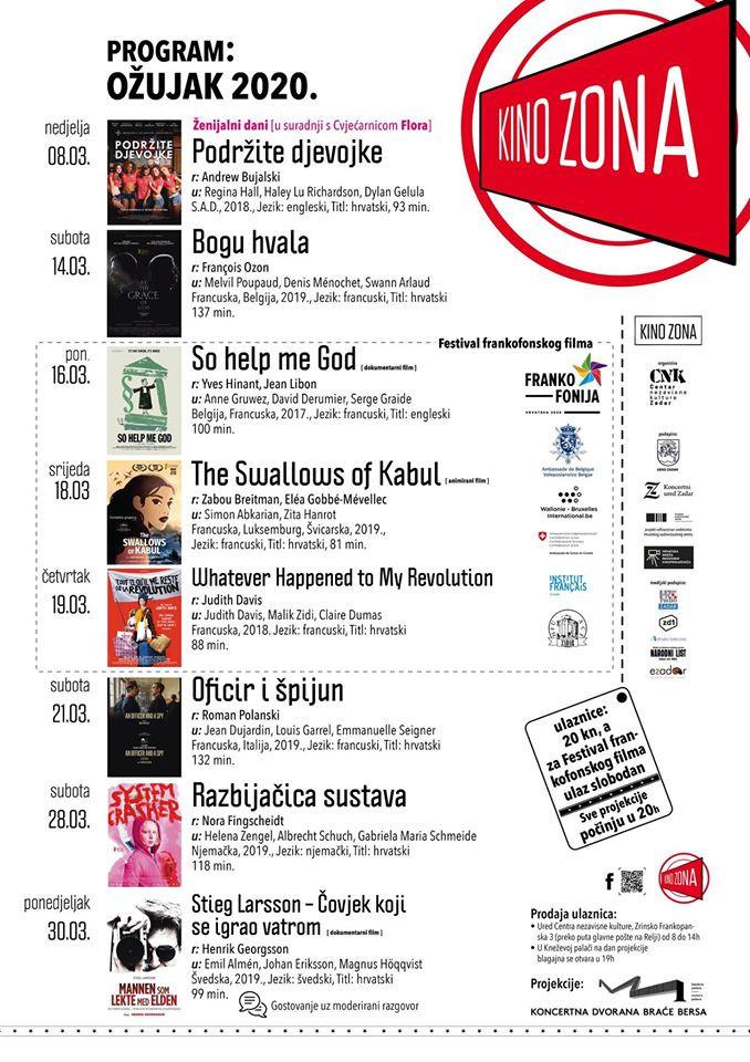 Najava ožujka u 'Kino Zoni'